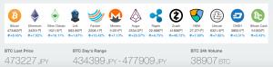 13種類の人気の仮想通貨