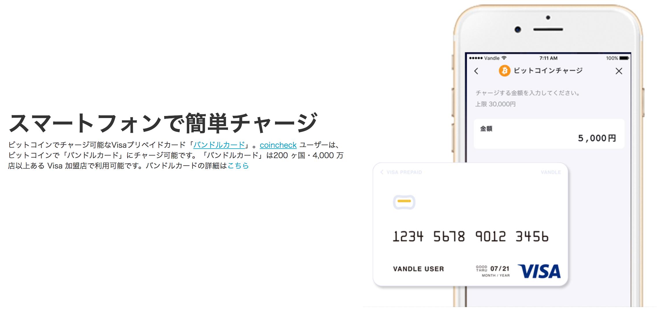 ビットコインVisaプリペイドカード